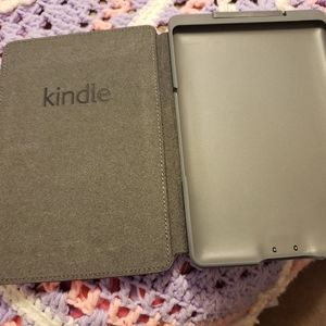 Burgundy Kindle cover with light
